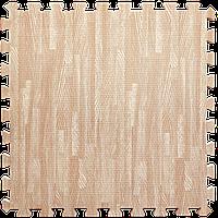 Модульное напольное покрытие пол пазл 600х600х10 мм розовое дерево