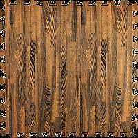 Модульное напольное покрытие пол пазл 600х600х10 мм коричневое дерево