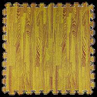Модульное напольное покрытие пол пазл 600х600х10 мм желтое дерево