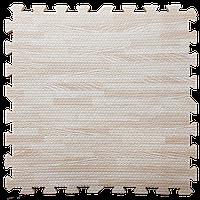 Модульное напольное покрытие пол пазл 600х600х10 мм светлое дерево