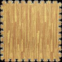 Модульное напольное покрытие пол пазл 600х600х10 мм золотое дерево