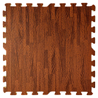 Модульное напольное покрытие пол пазл 600х600х10 мм дерево темное