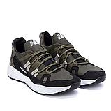 Мужские кожаные кроссовки New Balance оливковые, фото 4