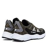 Чоловічі шкіряні кросівки New Balance оливкові, фото 6