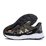 Чоловічі шкіряні кросівки New Balance оливкові, фото 7