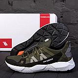 Мужские кожаные кроссовки New Balance оливковые, фото 2
