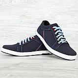 40 Розмір! Кроссовки мужские синего цвета (Ст-7сн), фото 3