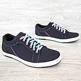 40 Розмір! Кроссовки мужские синего цвета (Ст-7сн), фото 4
