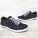 40 Розмір! Кроссовки мужские синего цвета (Ст-7сн), фото 5