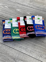 Шкарпетки Montebello жіночі високі теніс з смужками і малюнком 36-40 12 шт в уп асорті