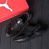 Мужские черные кожаные кроссовки Puma, фото 3