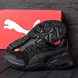Мужские черные кожаные кроссовки Puma, фото 2