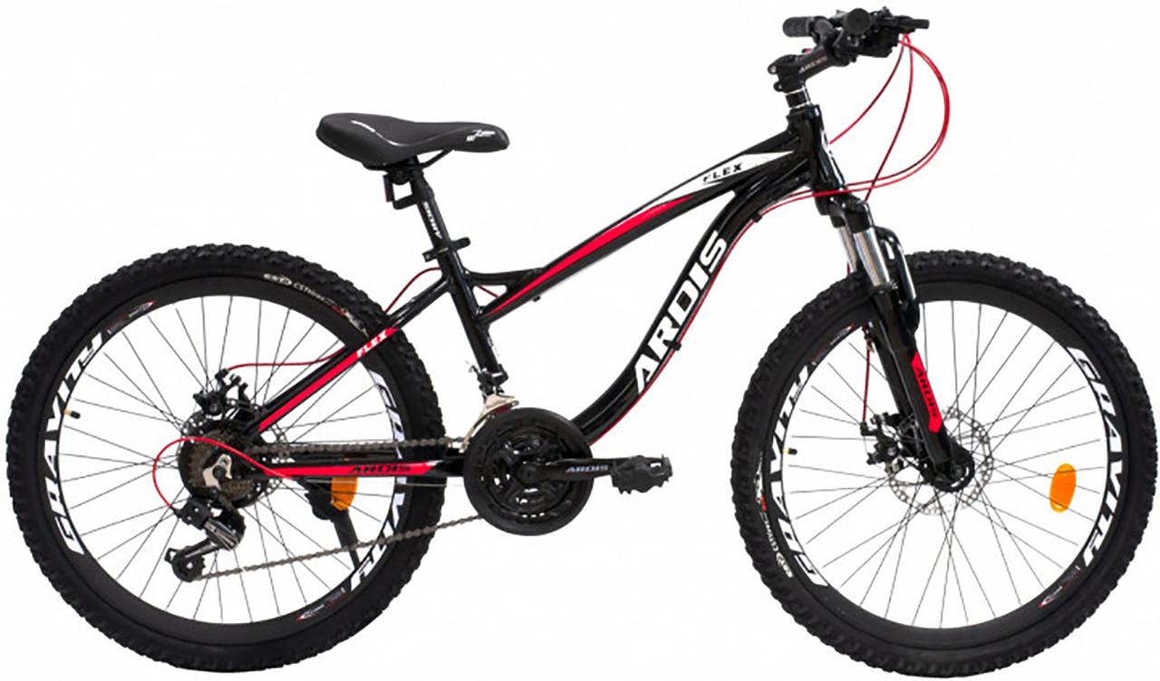 """Горный велосипед Ardis FLEX R26"""" 15"""" алюминиевый с дисковыми тормозами (Черно-красный)"""