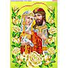 Схема для вышивки бисером Пётр и Феврония в розах