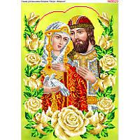 Схема для вишивки бісером Петро і Февронія в трояндах