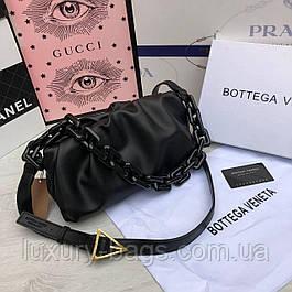Жіноча шкіряна сумка клатч Bottega Veneta Боттега Венета