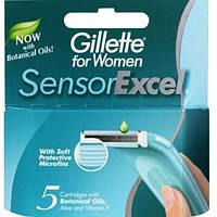 Кассеты женские для бритья Gillette Sensor Excel 5 шт (Жиллете Сенсор Эксель)