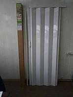 Двери гармошка глухая   810 х 2030  Дуб Беленый  №9