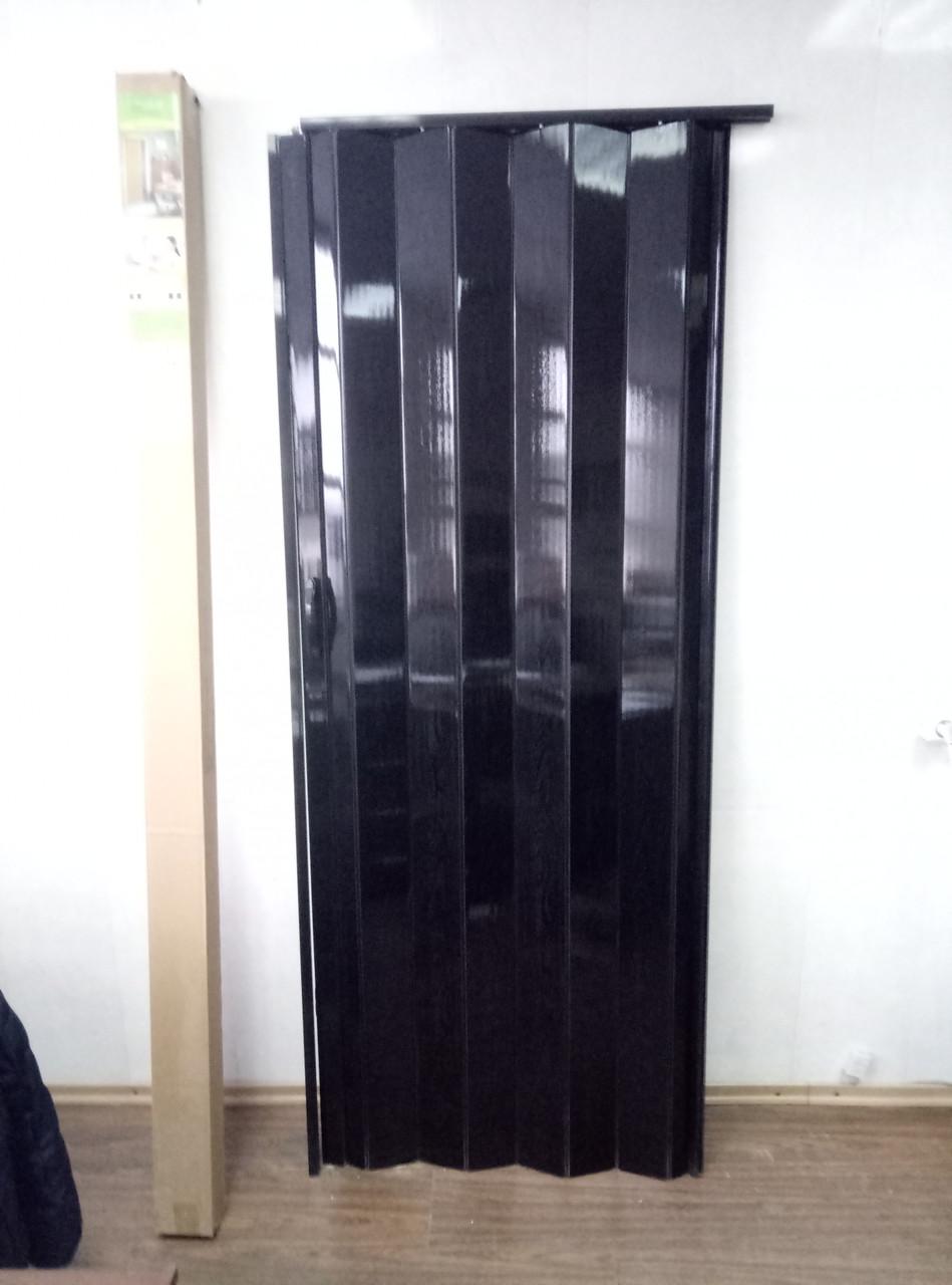 Двері гармошка глуха 810 х 2030 Венге Чорний №12