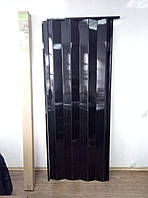 Двері гармошка глуха 810 х 2030 Венге Чорний №12, фото 1