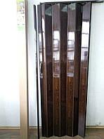 Двери гармошка глухая   810 х 2030  Орех  №8