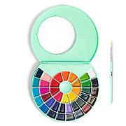 Акварельные краски HIMI Professional 38 цветов + кисточка (мятная коробка)