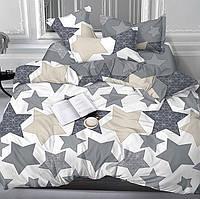 Семейное постельное белье Gold серые звезды