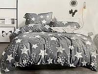 Семейное постельное белье Gold серое звезды