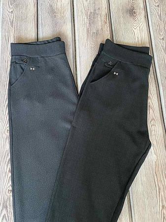 Штани жіночі класичні чорного і сірого кольору, фото 2