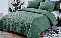 Покрывало с наволочками зеленое