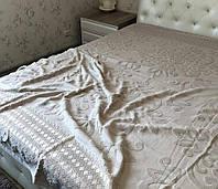 Модное льняное покрывало двуспального размера