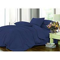 Полуторное постельное белье Ranforce однотонное синее