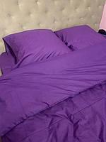 Полуторное постельное белье Ranforce сиреневое однотонное