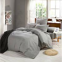 Полуторное постельное белье Ranforce светло-серое