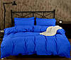 Полуторное постельное белье Ranforce синего цвета