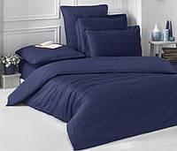 Полуторное постельное белье Ranforce темно-синий цвет