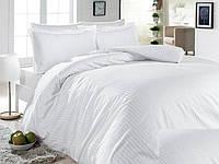 Полуторное постельное белье Ranforce белое