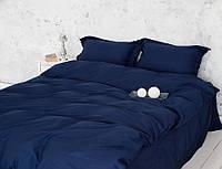 Полуторное постельное белье Ranforce темно-синее