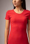 Приталенное хлопковое платье в рубчик до колена в 4 цветах в размере S, M, L, фото 9
