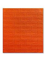 Самоклеющаяся декоративная 3D панель Кирпич красный 700x770x5мм