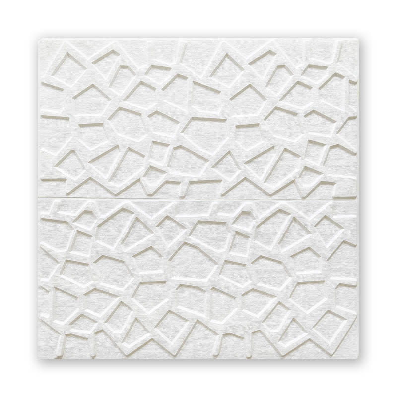 Самоклеюча декоративна потолочно-стінова 3D панель павутина 700х700х5мм