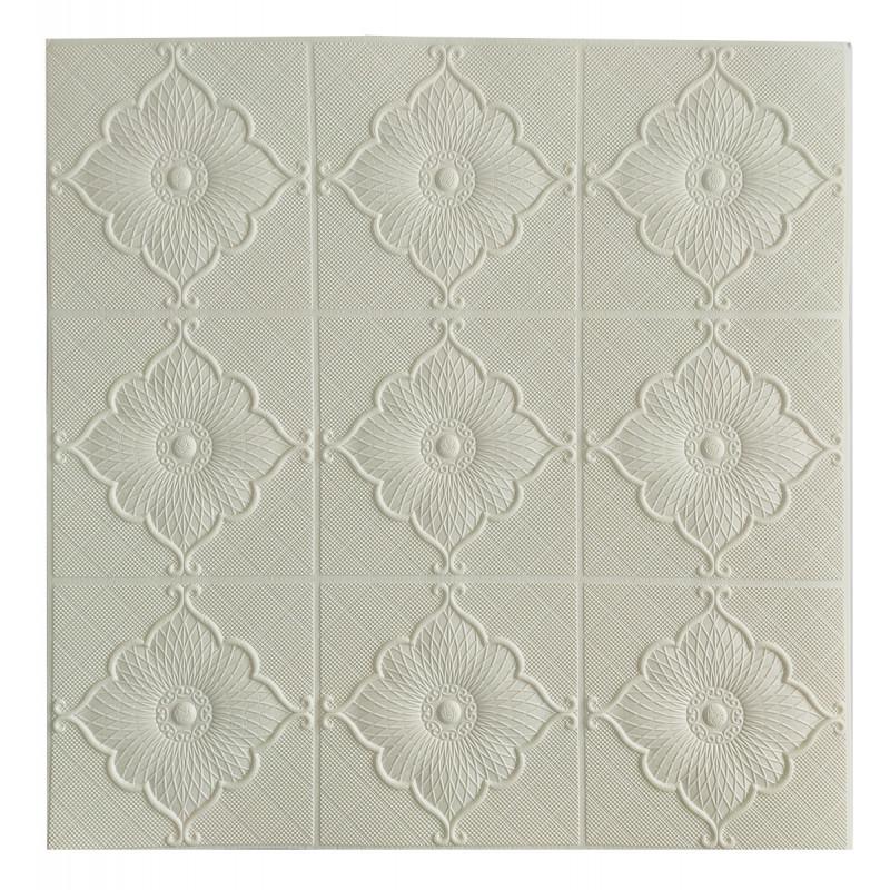 Самоклеюча декоративна потолочно-стінова 3D панель квітка 700x700x5.5мм