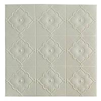 Самоклеюча декоративна потолочно-стінова 3D панель квітка 700x700x5.5мм, фото 1