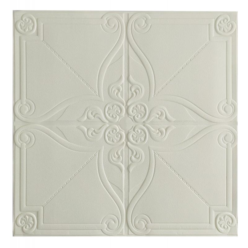 Самоклеюча декоративна потолочно-стінова 3D панель орнамент 700x700x5.5мм