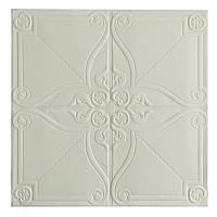 Самоклеюча декоративна потолочно-стінова 3D панель орнамент 700x700x5.5мм, фото 1