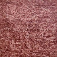 Самоклеюча декоративна 3D панель бордовий мармур 700х770х5мм, фото 1