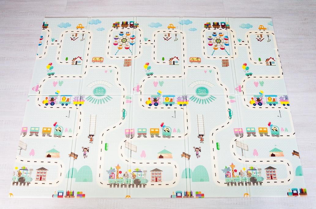 """Розвиваючий килимок дитячий термо """"Атракціон - Ростомір"""" 180*200*1 см"""