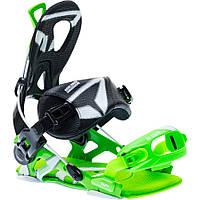 Популярные белые крепления для сноуборда SP Core green black fastec