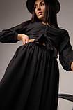 Однотонный костюм с длинной юбкой и укороченной блузой в 3 цветах в размере S, M, L, фото 4