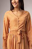 Однотонный костюм с длинной юбкой и укороченной блузой в 3 цветах в размере S, M, L, фото 8